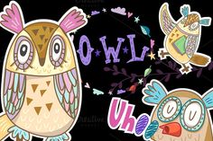 Check out Owls by marushabelle on Creative Market