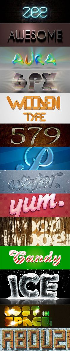20 Eye Popping Photoshop Text Effects Tutorials