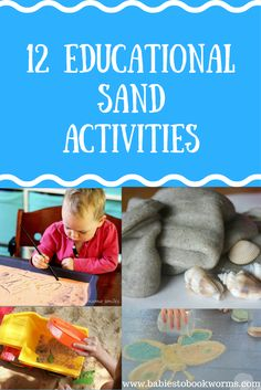 Keep kids learning in the summer months with these educational sand activities for kids! #SandGames #SandActivities #LearningAtTheBeach