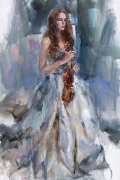 Artist Anna Razumovskaya ~ Russian Artist - Art And Beauty Romanticism Paintings, Art Ballet, Anna Razumovskaya, Weathered Paint, Dance Paintings, Surrealism Painting, Classical Art, Fantastic Art, Figure Painting