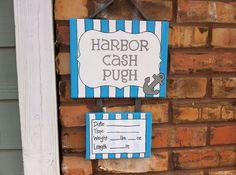 Nautical anchor baby boy hospital, nursery door hanger, door sign on Etsy, $30.00