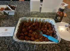 Turkey meatballs covered in the Dove Chocolate Discoveries Sweet 'N' Smoky Chocolate BBQ Sauce