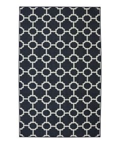 Look what I found on #zulily! Navy Barrington Rug #zulilyfinds