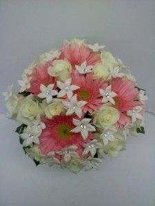 """Hand Tied Bridal Bouquet with """"bling"""""""