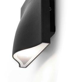 Lámpara aplique LED AMON gris detalle