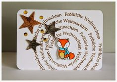 Fuchs, Fox, Karte, Card, Create a Smile Stamps, Weihnachten, Christmas