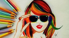 Creative-And-Simple-Color-Pencil-Drawings-Ideas
