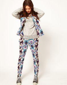#asos printed floral pants