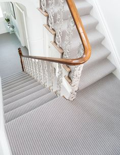 Add instant interest to stairs, hallways and living spaces with the Bouclé Neutrals collection. Designed to offer a fresh, modern look, it is a wool rich contemporary loop pile carpet blended with 50% New Zealand wool and 50% polyester for a clean, bright effect and soft 100% wool like handle. #carpets #flooring #greycarpets #greyflooring #greyinteriors #greylivingrooms #neutralcarpets #neutralinteriors #interiorinspiration #greybedrooms #neutralbedrooms #stripedcarpets #hallwayinspiration