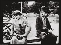 Charlie Chaplin knew how to put on the moves haha :P #adorable #flirting