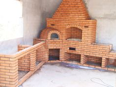 Outdoor Kitchen Patio, Outdoor Kitchen Design, Outdoor Living, Outdoor Fireplace Designs, Backyard Fireplace, Pizza Oven Fireplace, Brick Bbq, Sims House, Blog