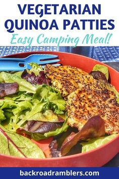 Looking for an easy and nutritious vegetarian camping meal? Try these amazing vegetarian quinoa patties - full of protein, easy to make, and delicious! #camping #campingfood #vegetarian #backroadramblers Vegetarian Camping Recipes, New Recipes, Dinner Recipes, Road Trip Food, Grilled Sausage, Camping Meals, Camping Hacks, How To Cook Quinoa, Campingfood