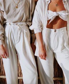 All white minimal and vintage fashion style ideas
