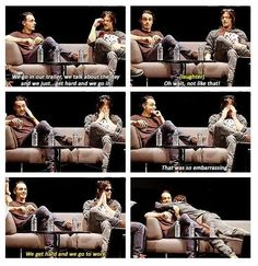 Andrew Lincoln & Norman Reedus (I'm almost certain that's exactly how they meant it...) #Leedus <3