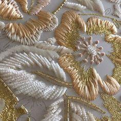 Haute Couture embroidery #embroidery #lesage #broderie #ricamo #hautecouture #crochet #luneville