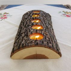 DIY tealight wood candle holder