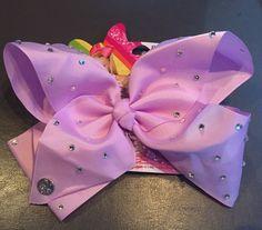 Jojo Siwa Claires Exclusive Girls Kids Big Hair Bow Lilac Purple Rhinestone NEW | eBay