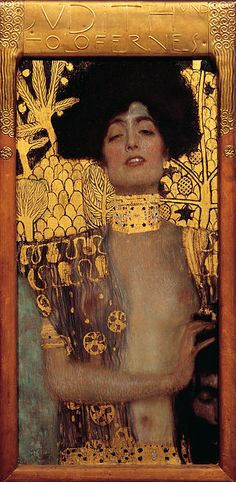 Gustav Klimt was born on this day (July 14) in 1862. This is his  Judith and the Head of Holofernes, 1901.  https://en.wikipedia.org/wiki/Gustav_Klimt