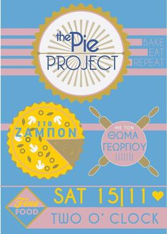 "the ""pie project"" poster, by eva noto"