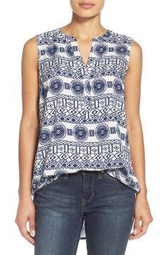 Sandra Split Neck Sleeveless Tunic (Regular & Petite) available at Challis Fabric, Outfits 2016, Petite Women, Sleeveless Tunic, Dress Patterns, What To Wear, Nordstrom, My Style, Blouse