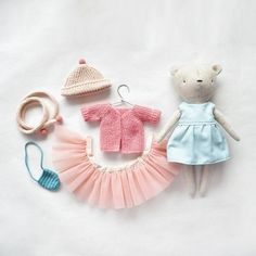 doll dress, as toy clothing, for dress up doll, gift for a girl doll cocktail dress as toy clothing for dress up doll Doll Dress Patterns, Dress Up Dolls, Sewing Toys, Sewing Crafts, Handmade Stuffed Animals, Diy Doll, Fabric Dolls, Handmade Toys, Doll Toys