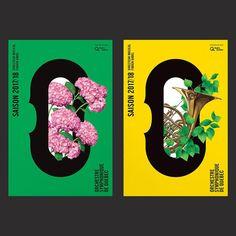 It's Nice That Creates A New Identity For Orchestre Symphonique De Québec - curated by Michael Paul Young on Buamai. Quebec, Graphic Design Posters, Graphic Design Inspiration, Typography Design, Festival Posters, Concert Posters, Web Design, Plakat Design, Buch Design
