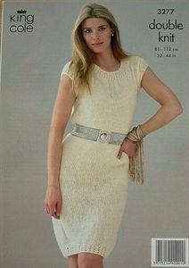 Ladies Dress DK Knitting/Crochet Pattern