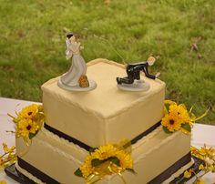 """Finally Hooked"" Wedding Cake"