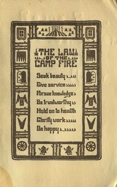the law of the camp fire