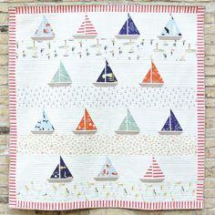 Ahoy Sailor Quilt Kit Featuring Saltwater