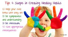 Creating Healthy Habits that Will Last a Lifetime! Your child is unique. Each day brings a new discovery. When children are understood, know who they are,  guided with confidence, have rules and routines they can count on, are trusted, treated with fairness and kindness, their dignity intact, have role models and are well loved even in unlovable circumstances, it provides the recipe for success.