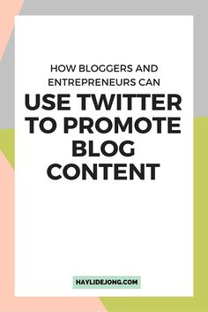 Twitter is a great way for bloggers and online entrepreneurs to share their blog posts and content. Learn how you can use twitter to grow your online presence for you blog. This is a complete beginners guide.