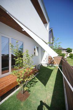 モリハウジング 高萩の家 漆喰 お庭 ウッドデッキ