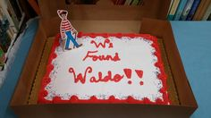 Waldo cake at The Book Nook in Brenham, TX for #FindWaldoLocal 2015
