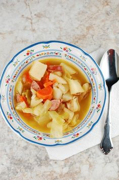 Rustic Irish Potato and Cabbage Soup - easy and hearty
