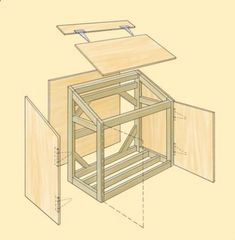 Amazing Shed Plans - cedar garbage container shed - Bing Images Now You Can Build ANY Shed In A Weekend Even If You've Zero Woodworking Experience! Start building amazing sheds the easier way with a collection of shed plans! Garbage Can Shed, Garbage Can Storage, Garden Tool Storage, Storage Shed Plans, Bin Shed, Garbage Containers, Bin Store, Shed Building Plans, Building Ideas