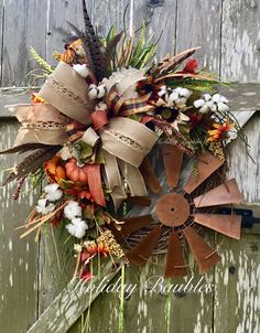 Windmill Fall Farmhouse by Holiday Baubles