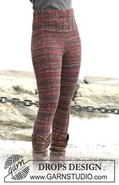 "DROPS 103-23 - DROPS Tights in ""Fabel"" and ""Alpaca""."