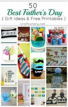 50 Best Fathers Day Gift Ideas (Best fathers day free printables). Make a special and handmade gift for your dad with these creative gift ideas for him.