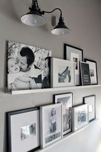 12 Shocking Ideas to Create Nice Looking Family Gallery Wall// gallery wall inspiration, arrangements, styling, home decor for every part of the house, interior decorating Decoration Photo, Photo Wall Decor, Home And Deco, Home And Living, Small Living, Living Area, House Design, Wall Design, Shelf Design