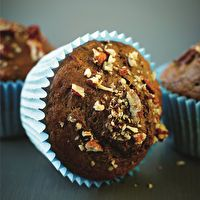 Cappuccino, Cinnamon Pecan Muffins by Excerpt from A Lighter Way To Bake by Lorraine Pascale.