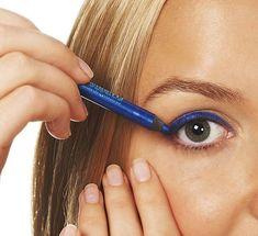 blue glitter liner