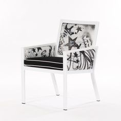 Graffiti Arm Chair Blk Wht II, $999, now featured on Fab.