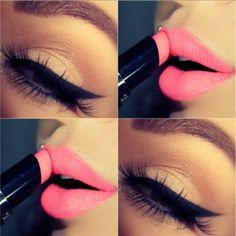 Hairstylist and makeup artist! @jessiemarieward follow me on Instagram @Beauty_Babe4u Pink Lips Makeup, Makeup Lipstick, Kiss Makeup, Hair Makeup, Cute Makeup, Pretty Makeup, Gorgeous Makeup, Makeup Goals, Makeup Tips