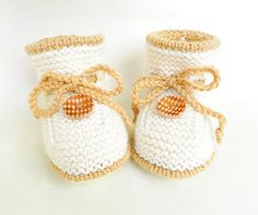 Knitted baby booties woolen baby booties by Svetlanababyknitting