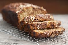Pin It You know how some people substitute applesauce for oil in recipes? I'm clearly not one of those people. I took a perfectly good, healthful-ish banana bread recipe and I did all sorts of crazy things to it. Things that are quite possibly illegal. I got it in my head to make a …