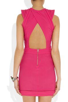 IRO|Cutout neon crepe mini dress|NET-A-PORTER.COM