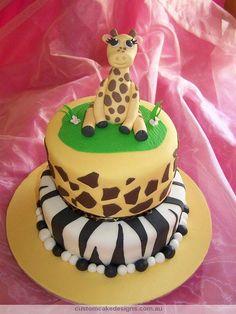 BUTTER CREAM FROSTING BABY SHOWER GIRAFFE CAKES IMAGES | Giraffe Jungle Safari Baby Shower Birthday Cake | Flickr - Photo ...