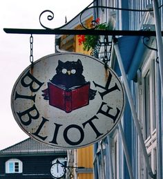 Library in Norway / Owl reading a book.                                                                                                                                                                                 Mais