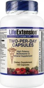 Life Extension Two-Per-Day Capsules 120 Capsules (120 Capsules, High Potency Multivitamin & Mineral Supplement) - http://vitamins-minerals-supplements.co.uk/product/life-extension-two-per-day-capsules-120-capsules-120-capsules-high-potency-multivitamin-mineral-supplement/